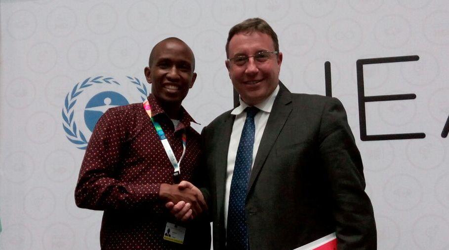 CYNESA David Munene With Achim Steiner At UNEA2