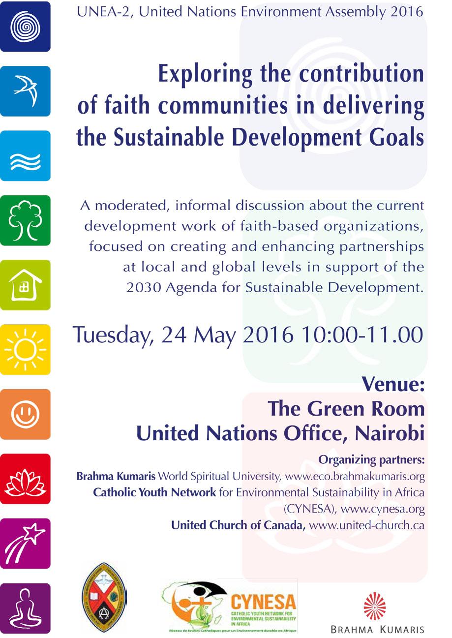 Side event UNEP Faith Communities UNEA 2