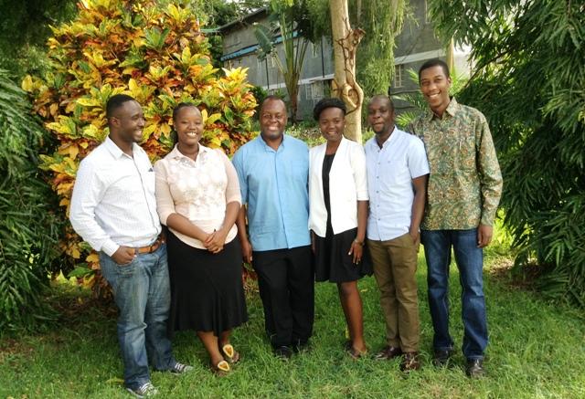 CYNESA team with Fr Msafiri